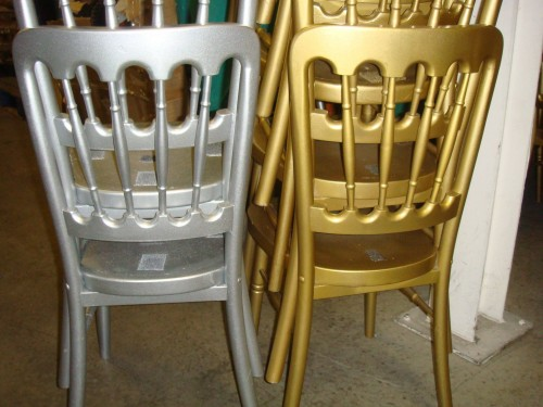 100 X Fiesta Gold Amp Silver Banqueting Chairs Tiger