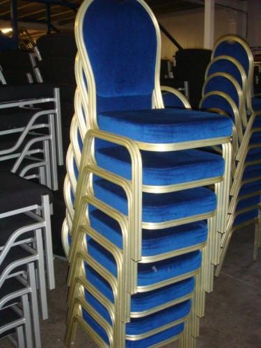 20 X Burgess Aluminium Banqueting Chairs Tiger