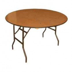 6\' round folding table