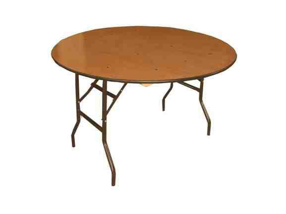 6\' round folding table