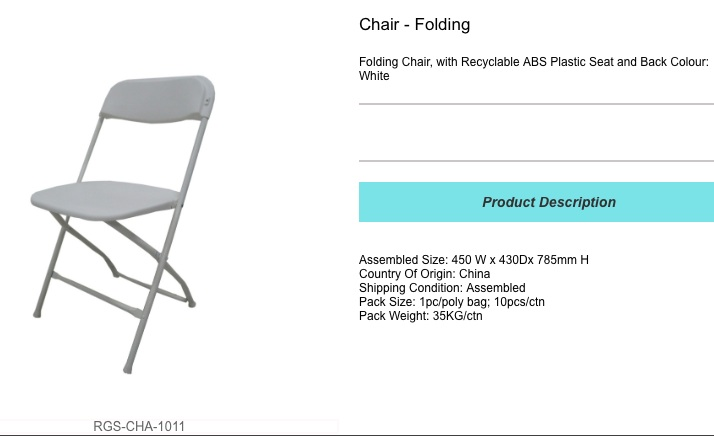 folding plastic chair